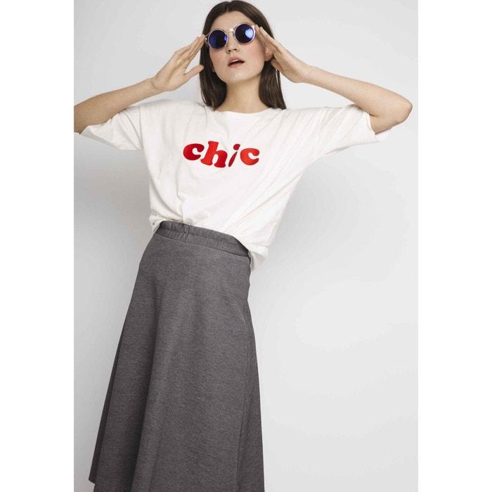 'Chic' Slogan Cotton T-Shirt  COMPANIA FANTASTICA image 0