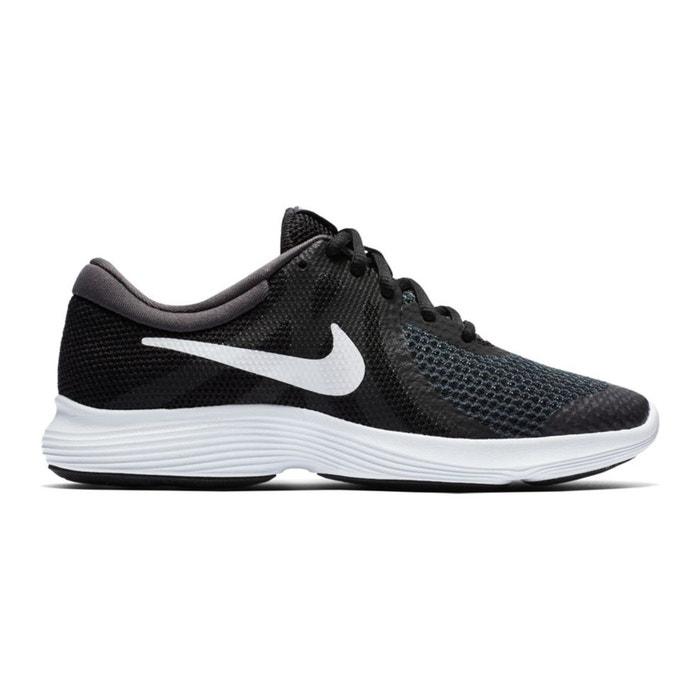 meet 17a60 6cb72 Baskets running revolution 4 (gs) noir blanc Nike   La Redoute