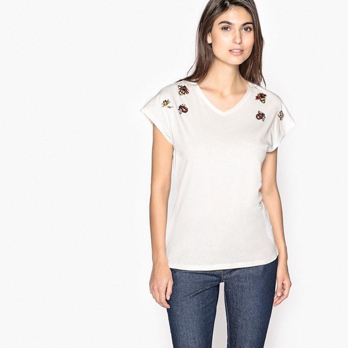 T-shirt con scollo a V, cotone & modal  ANNE WEYBURN image 0
