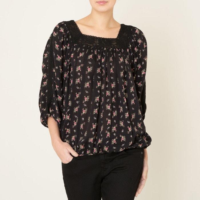 blouse dentelle noir denim and supply ralph lauren la redoute. Black Bedroom Furniture Sets. Home Design Ideas