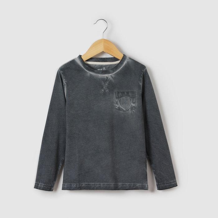 afbeelding T-shirt met lange mouwen en zak abcd'R