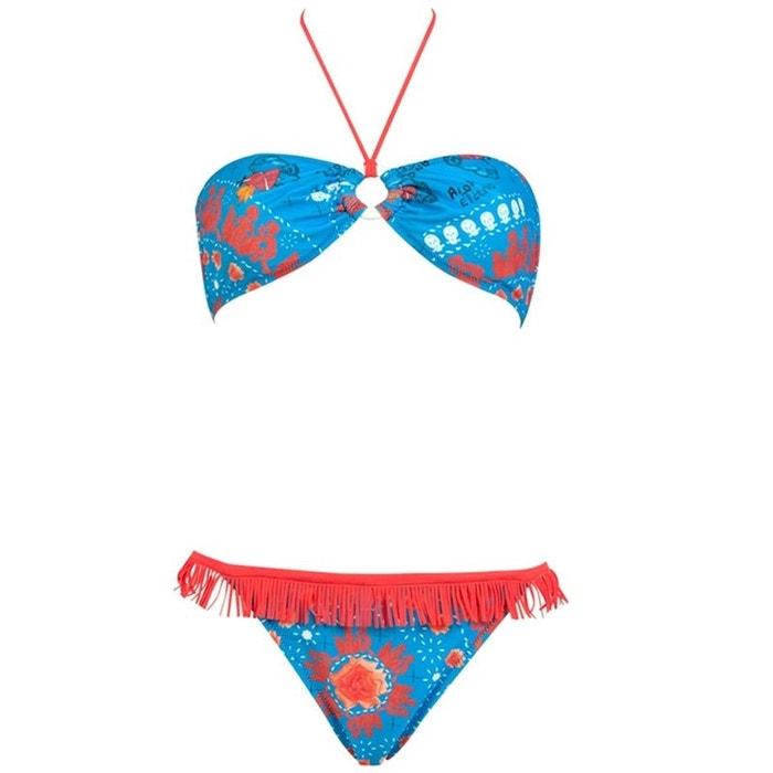 Vente Populaire I LOVE MY BIKINI Bikini bleu à franges orange Pas Cher Prix De Gros Prix Pas Cher eLlEMn