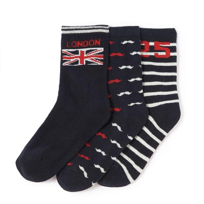 Chaussettes fantaisie thème Londres (lot de 3)