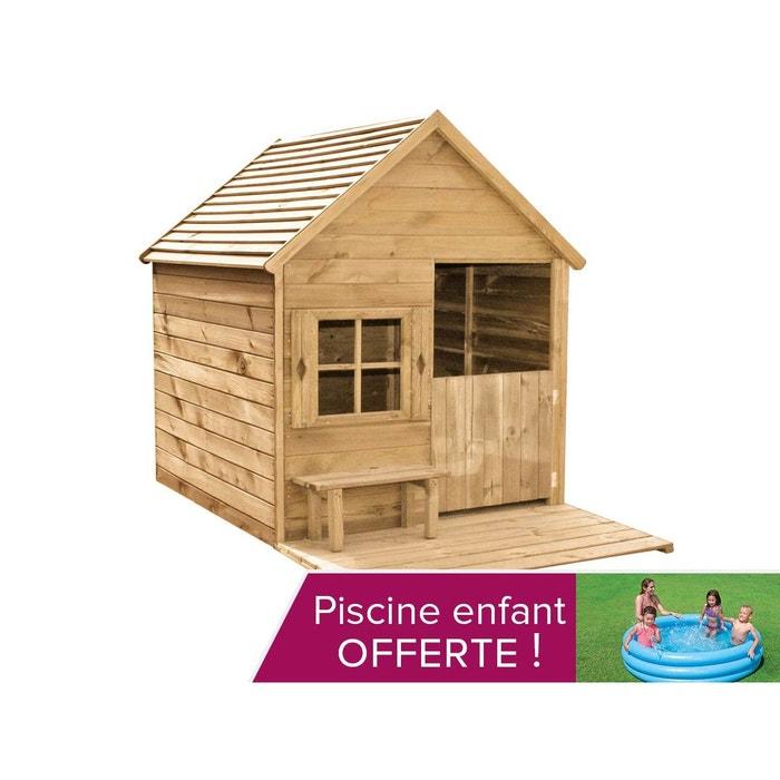 Cabane enfant heidi en bois forest style la redoute for Piscine bois la redoute