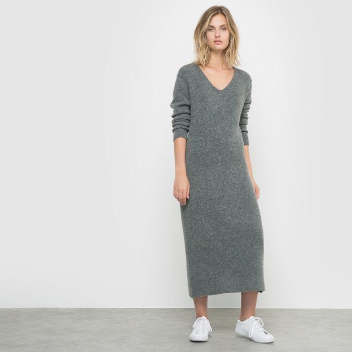 afbeelding Lange jurk in tricot R studio