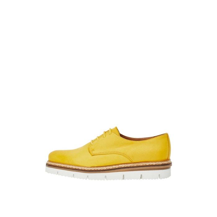 Chaussures fendues à lacets Bianco