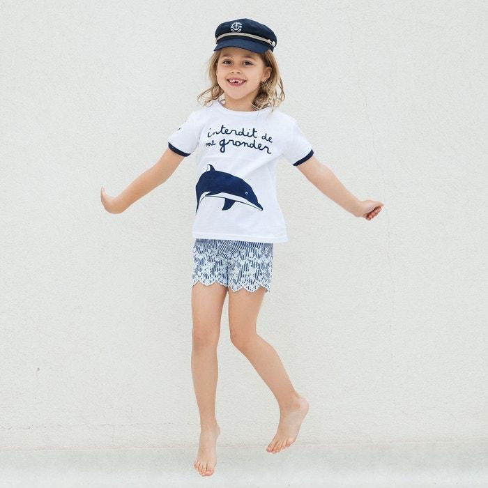 Blanche V/éranno 1 Casquette Gavroche Ancre de Marin 100/% Coton. Enfant Fille Taille Unique Chapeau