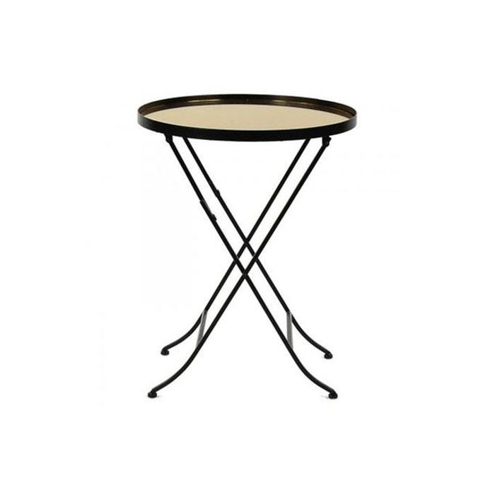 Table de chevet pomax loft dor e salomon jaune pomax la for La redoute table de chevet