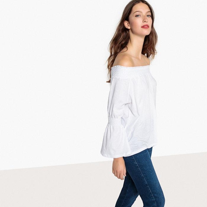 Camiseta con smock, hombros descubiertos  MADEMOISELLE R image 0