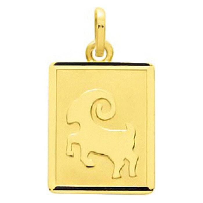 Pendentif zodiaque plaque rectangulaire signe astrologique bélier or jaune 750/000 (18 carats) couleur unique So Chic Bijoux | La Redoute Vente Bas Frais D'expédition Vente Vraiment 7kTFh