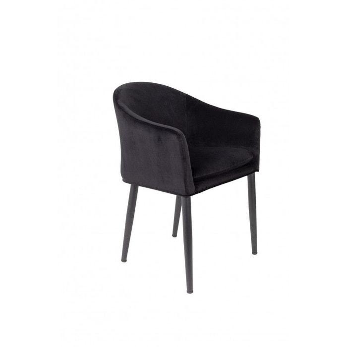 fauteuil de table design en velours catelyn