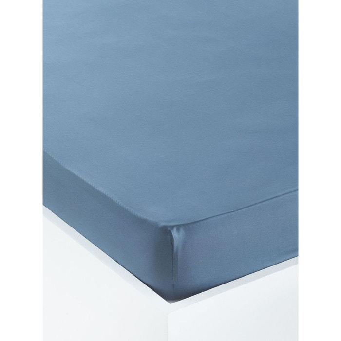 drap housse uni en percale de coton orangers gris fonc uni cyrillus la redoute. Black Bedroom Furniture Sets. Home Design Ideas
