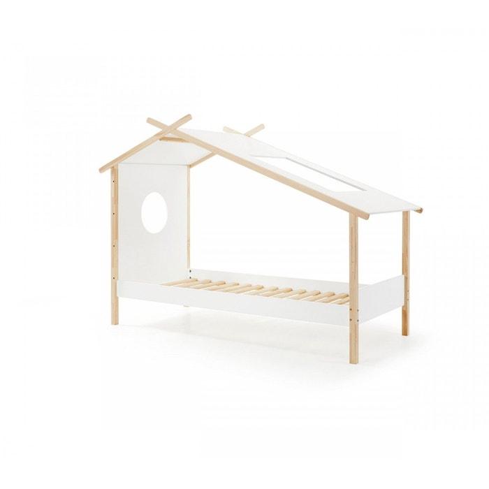 lit maison cabane enfant blanc blanc terre de nuit la redoute. Black Bedroom Furniture Sets. Home Design Ideas
