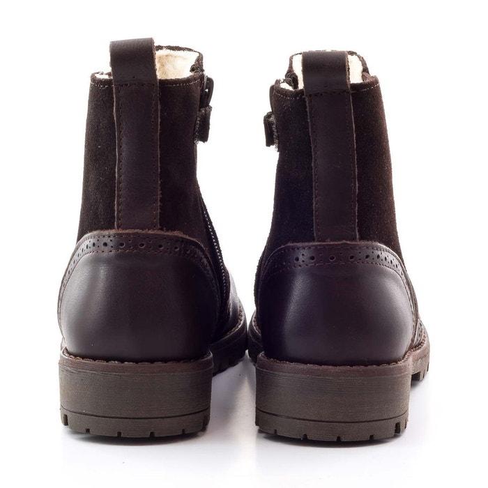 cad0eb343c8c4 Boni hudson - boots enfant fourée marron Boni Sidonie