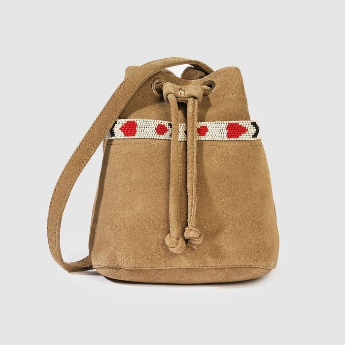 Le sac bourse, cuir, Hachi