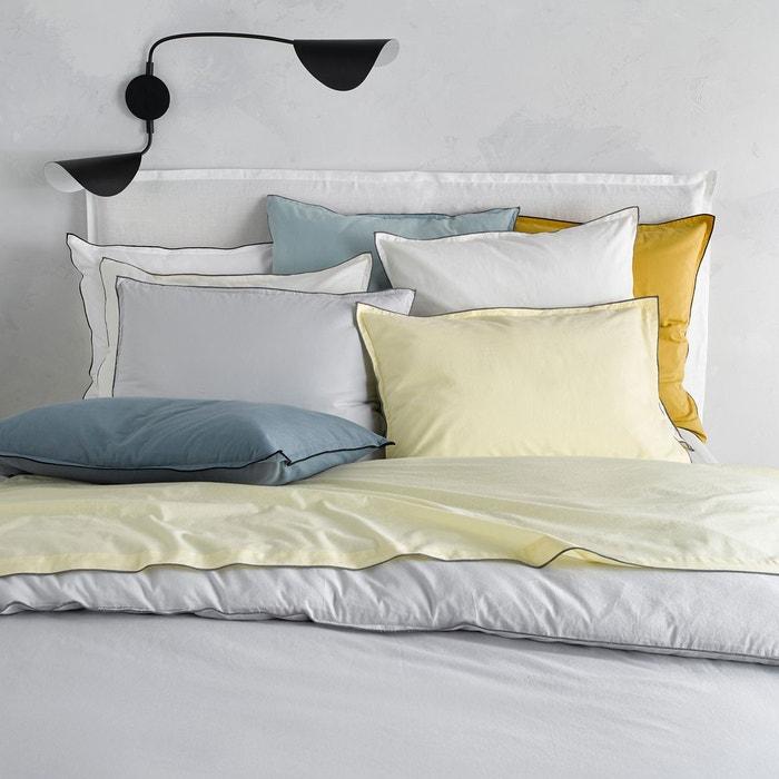 housse de couette voile de coton lav gypse rose poudr. Black Bedroom Furniture Sets. Home Design Ideas