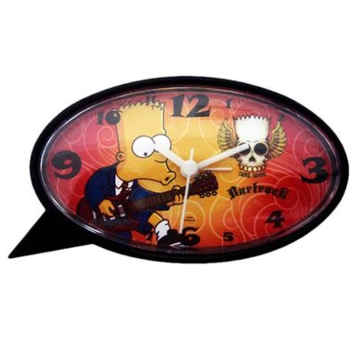Réveil Oval Bart Simpsons Joueur de guitare SUD CARGO