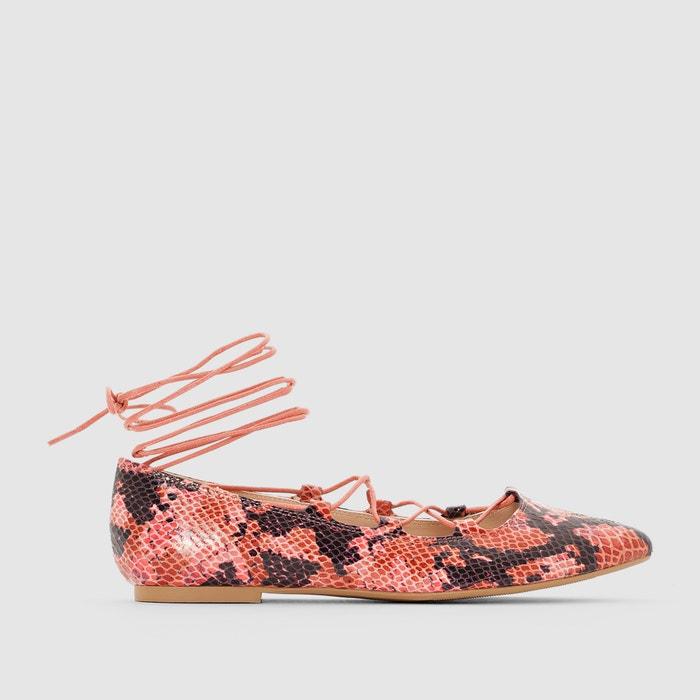 Lace-Up Ballet Pumps  La Redoute Collections image 0