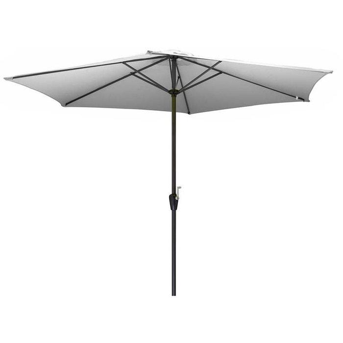 parasol en aluminium 350 cm avec manivelle hug blanc proloisirs la redoute. Black Bedroom Furniture Sets. Home Design Ideas