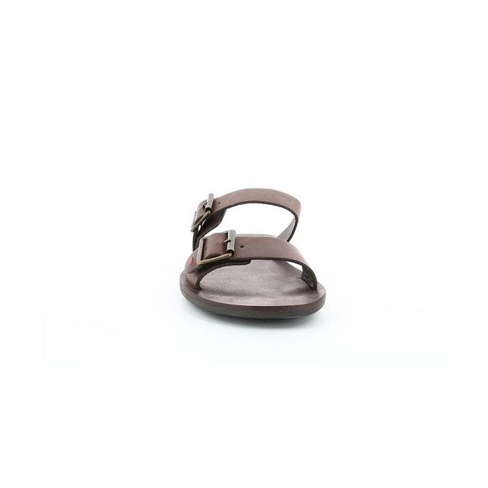 Sandales et nu-pieds cuir homme marveo marron Kickers