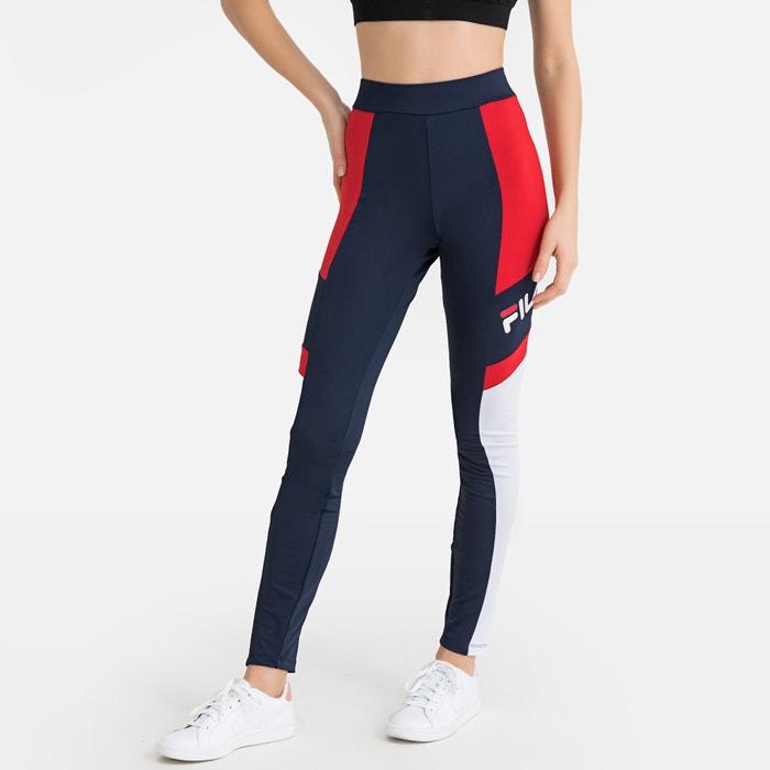 Sportlegging Rood.Sportlegging Tricolor Martha Tights Blauw Wit Rood Fila La Redoute