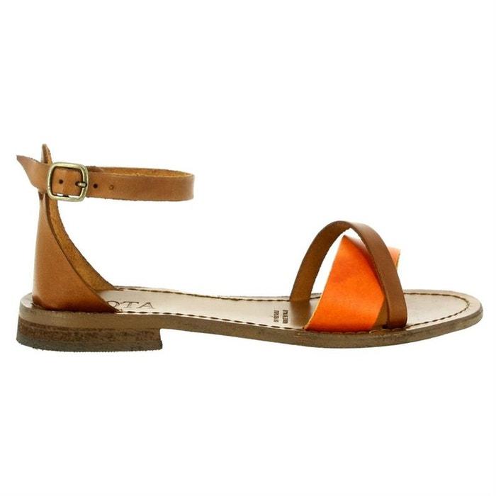 Sandales   nu-pieds cuir marron Iota  a75dd8a9e67