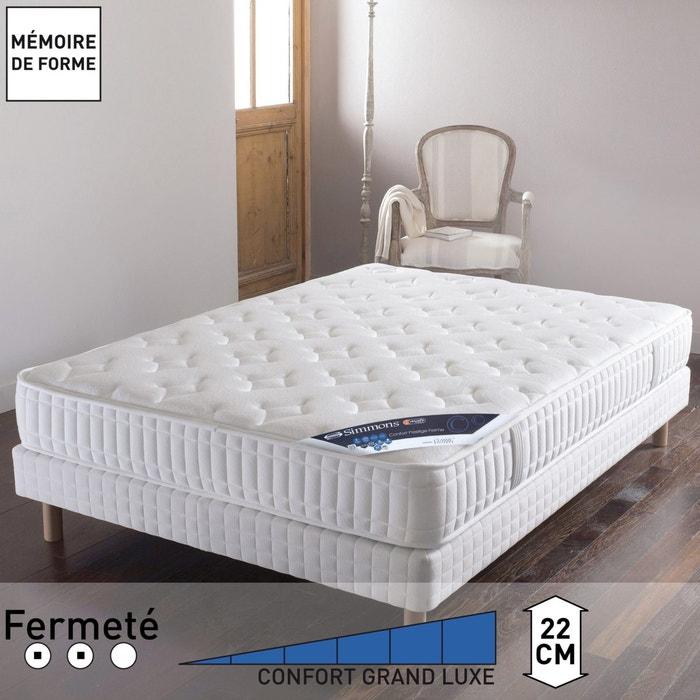 Image Matelas No Flip® ressorts ensachés Sensoft ® confort prestige ferme, haut. 22 cm SIMMONS