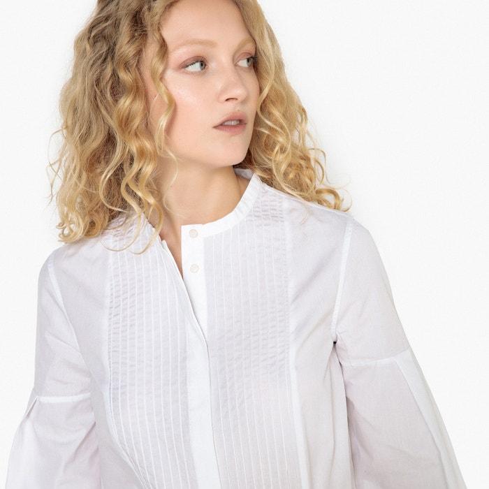 La mao y Camisa Redoute Collections plisado plastr cuello con 243;n PqrPS1n4w