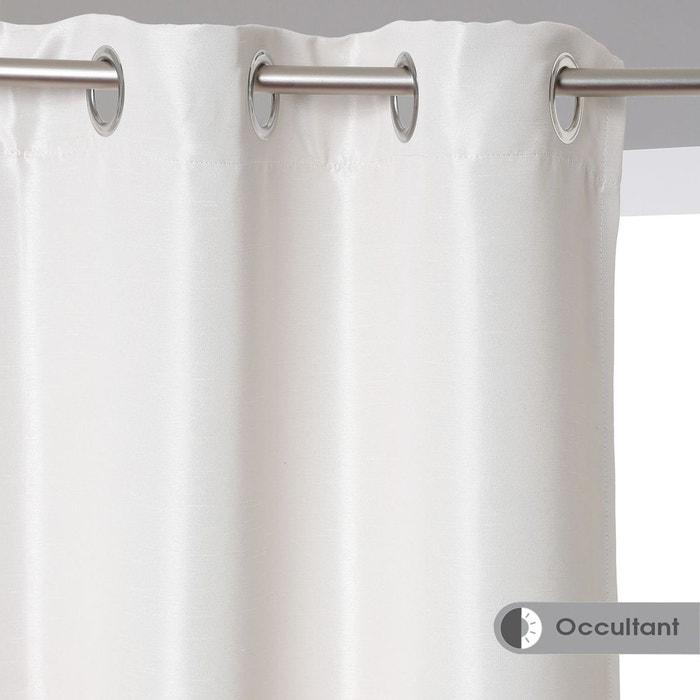 rideau occultant satin 140 x 260 cm atmosphera la redoute. Black Bedroom Furniture Sets. Home Design Ideas