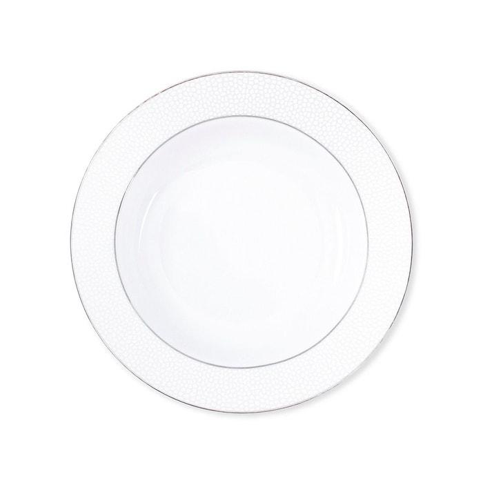 assiette creuse en porcelaine 22cm lot de 6 galatee blanc bruno evrard la redoute. Black Bedroom Furniture Sets. Home Design Ideas