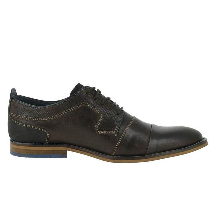 Chaussures à lacets cuir  brun foncé Mustang  La Redoute