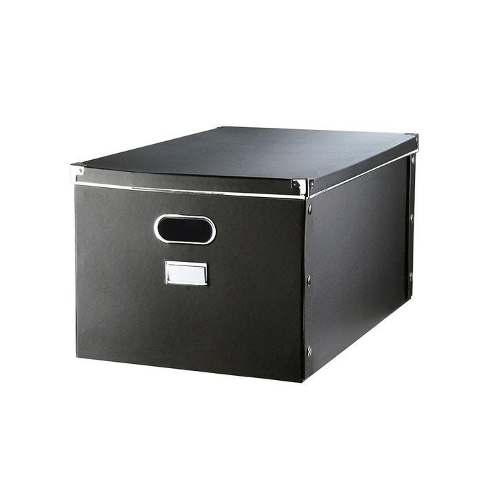 boite de rangement carton avec armature m tal noir casame la redoute. Black Bedroom Furniture Sets. Home Design Ideas