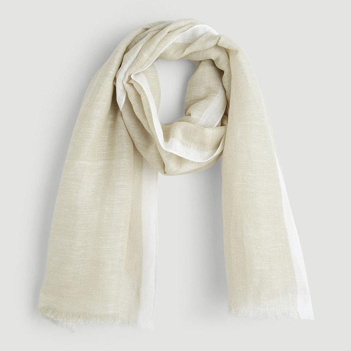 Etole en lin coton uni beige Monoprix   La Redoute 2918cd599e1