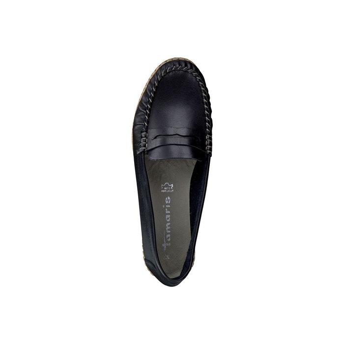 Mocassins en cuir 24643-28 noir Tamaris