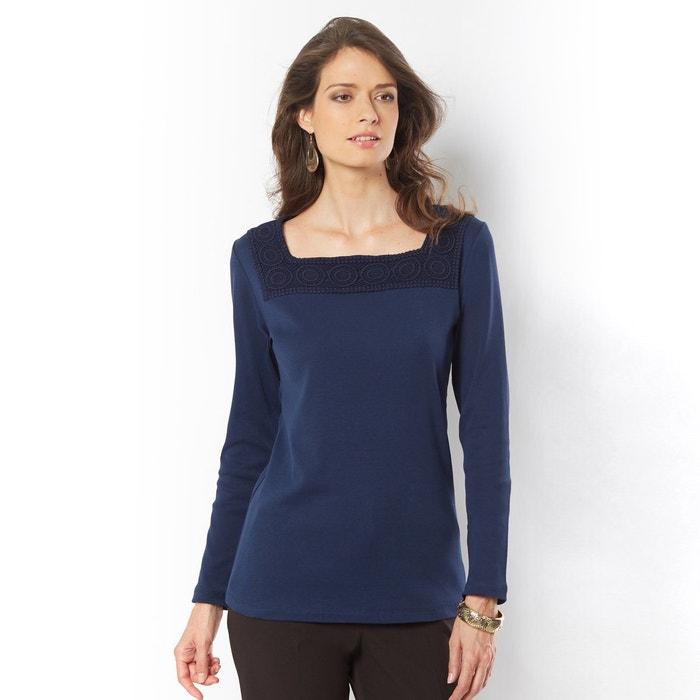 Imagen de Camiseta lisa con cuello redondo, manga larga ANNE WEYBURN