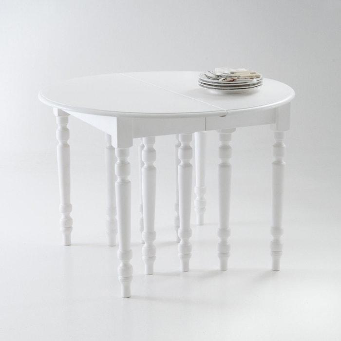 table ronde 4 16 couverts authentic style blanc la. Black Bedroom Furniture Sets. Home Design Ideas