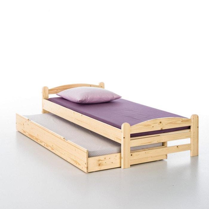 Cama de pino macizo loan la redoute interieurs la redoute for La redoute muebles