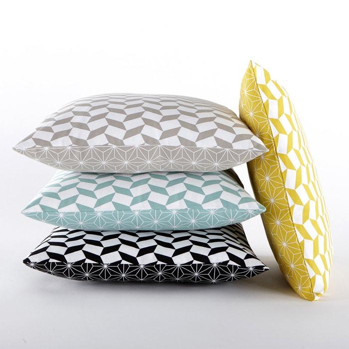 40cm x 40cm La Redoute Interieurs Lozange Square Cushion Cover in Mint//White