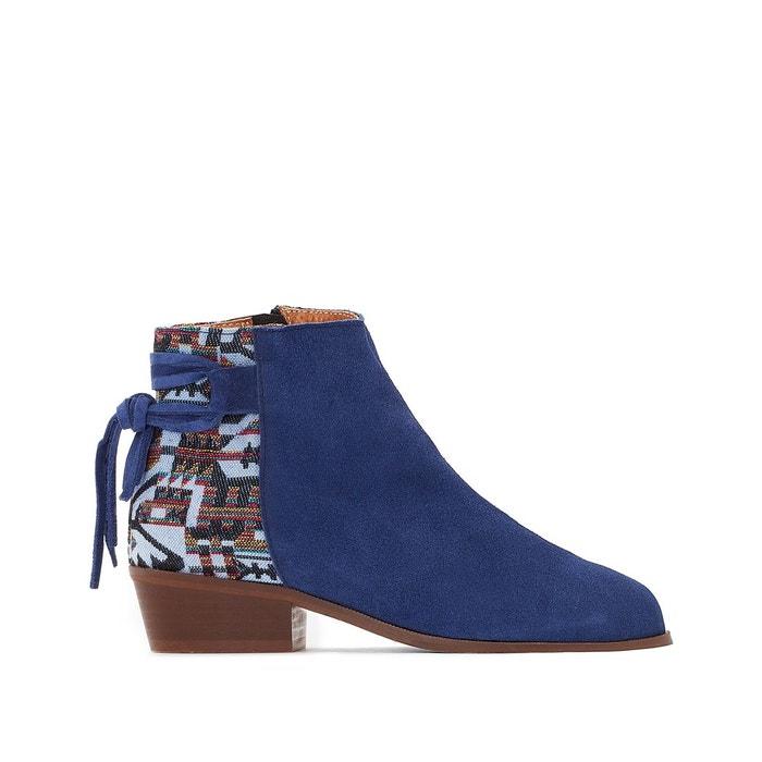 Boots cuir aztèque  La Redoute Collections image 0