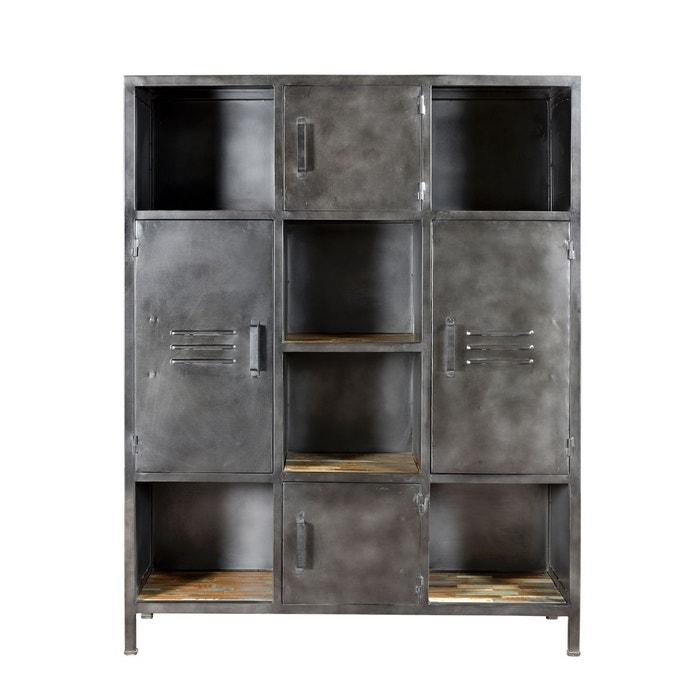 Biblioth que arati 6 niches 4 portes bois rendez vous deco la redoute - La redoute bibliotheque ...