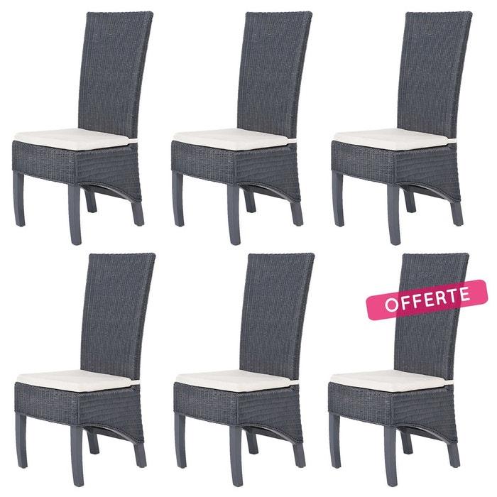 Lot De 6 Chaises PACIFIC En Fitrit ROTIN DESIGN Image 0