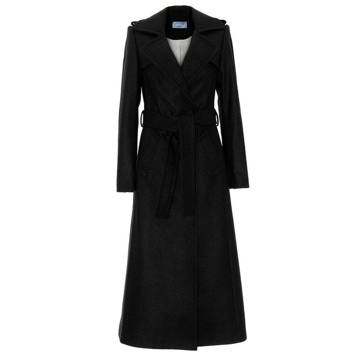 manteau long en cachemire noir noir renoma la redoute. Black Bedroom Furniture Sets. Home Design Ideas