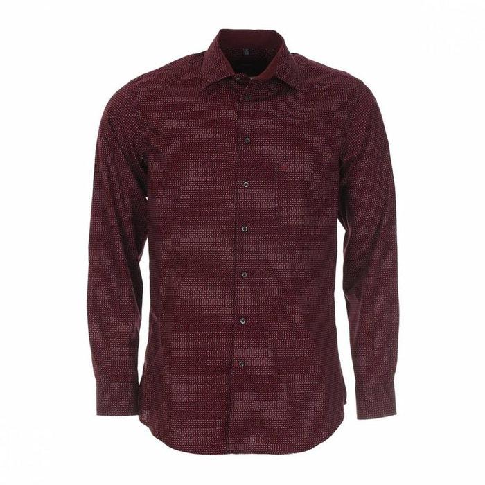 chemise droite jean chatel motifs s coton bordeaux jean chatel la redoute. Black Bedroom Furniture Sets. Home Design Ideas