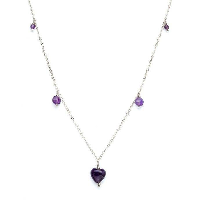 collier argent violet