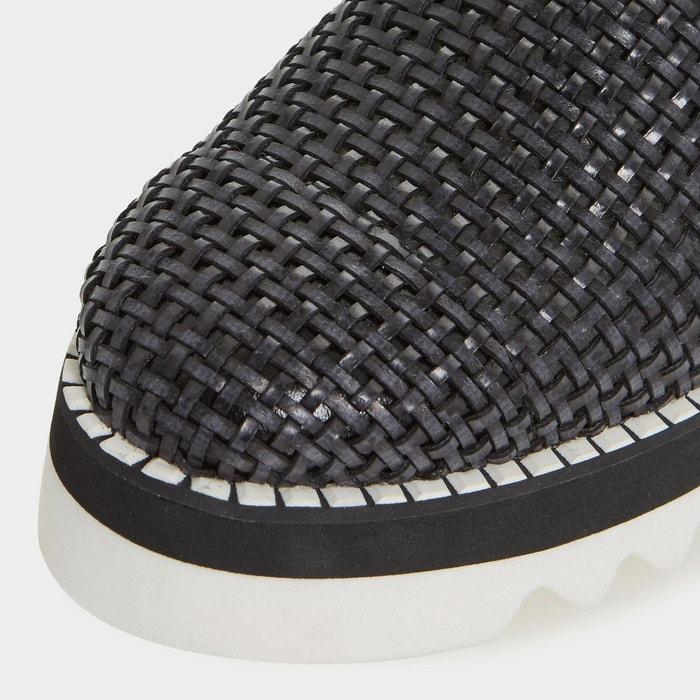 Chaussures tressées à enfiler à plateformes - gloat Dune Black