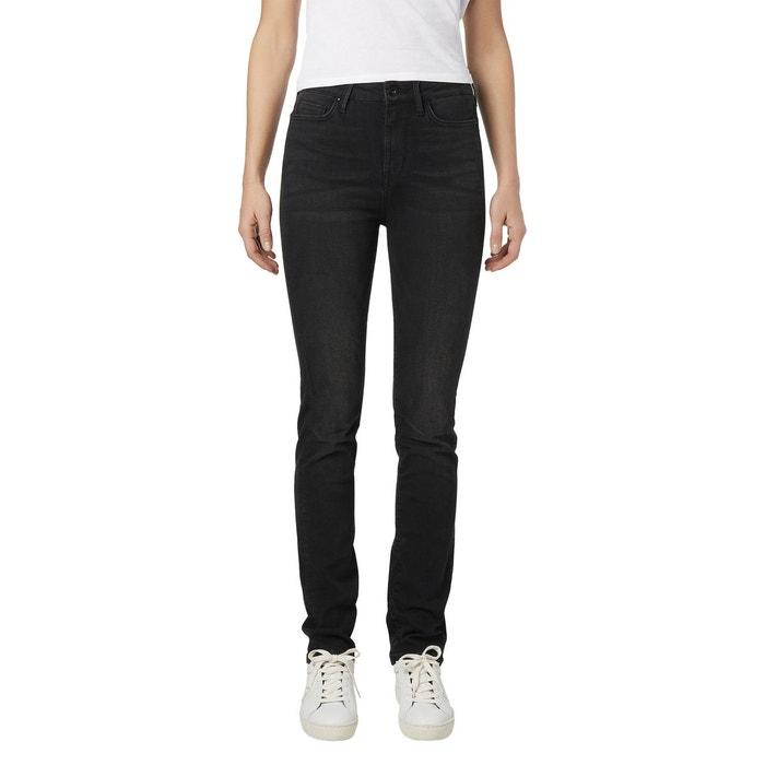 3e188e11fe11b Jean slim taille haute noir délavé Tommy Hilfiger   La Redoute