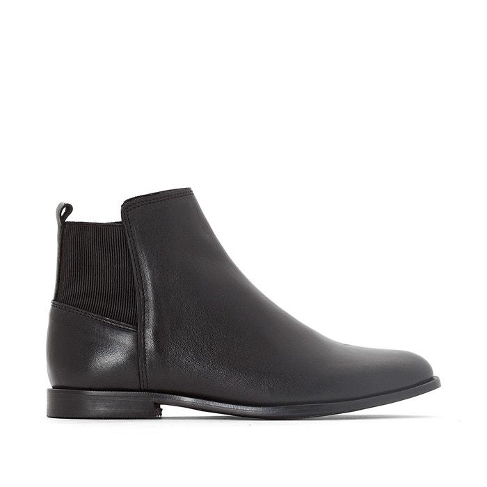 Image Boots cuir détail élastique La Redoute Collections