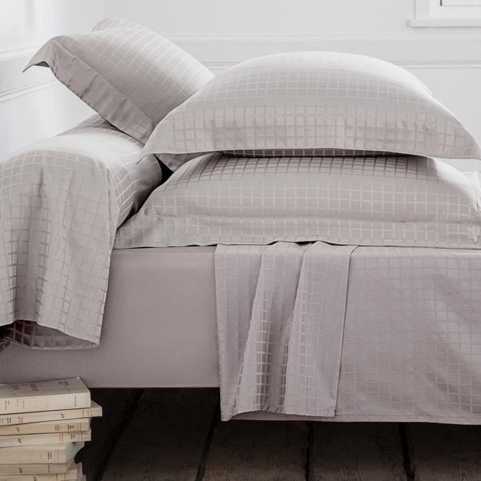 Image Woven Checked Cotton  Oxford Pillowcase La Redoute Interieurs
