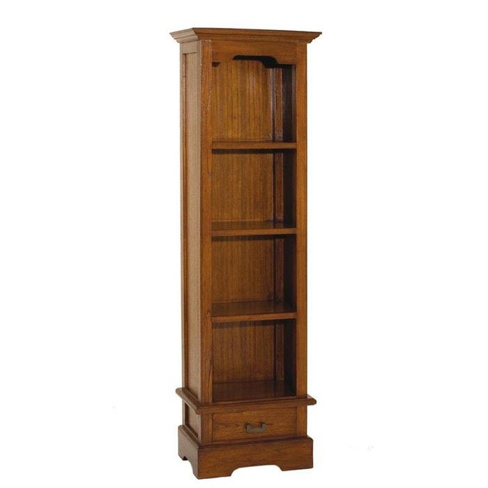 Biblioth que acajou verni 54x180cm lola caramel roux pier - La redoute meuble bibliotheque ...