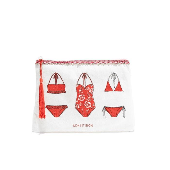 Kit De Survie Plage Zip-Up Canvas Clutch Bag  PETITE MENDIGOTE image 0